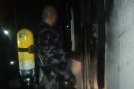 دفاع مدني بيت لحم ينقذ عائلة ويخمد حريقًا ببيت ساحور