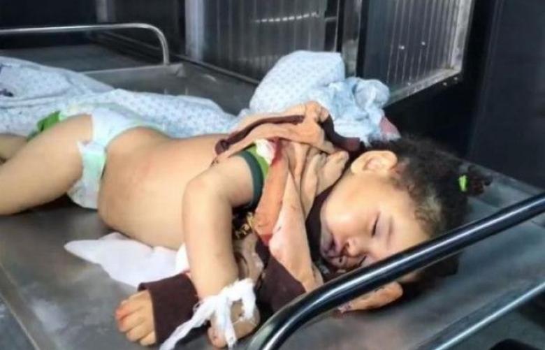 مشهد يُدمي القلب للشهيدة الرضيعة صبا أبو عرار