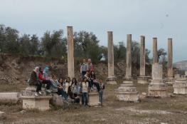 """""""مرشدات الصداقة"""" تعقد مخيمها الشتوي في سبسطية الأثرية"""