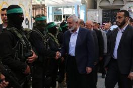 هنية يزور بيوت شهداء التصعيد الأخير على قطاع غزة
