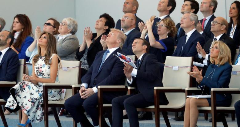 فرنسا تستعرض قوتها بحضور ترمب