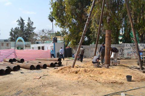 بلدية النصيرات تحفر بئر مياه جديد وتنقل ثلاثة آبار أخرى