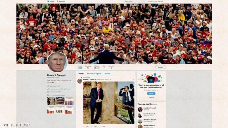 ترامب يحطم رقمه القياسي الرئاسي على تويتر