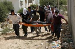 إصابة متضامن بقمع الاحتلال مسيرة كفر قدوم
