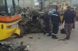 وفاة مواطنة بحادث سير بين سيارة فلسطينية وإسرائيلية