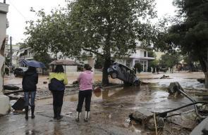 أمطار غزيرة وفياضانات في ضاحية