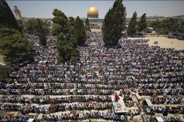 الأوقاف: نحو 100 ألف مصل أدوا صلاة الجمعة الثالثة من رمضان في الأقصى