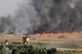 الحرائق بغلاف غزة كبدت الاحتلال 15 مليون شيقل