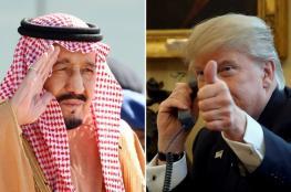 ترمب والعاهل السعودي يبحثان جهود استقرار سوق النفط