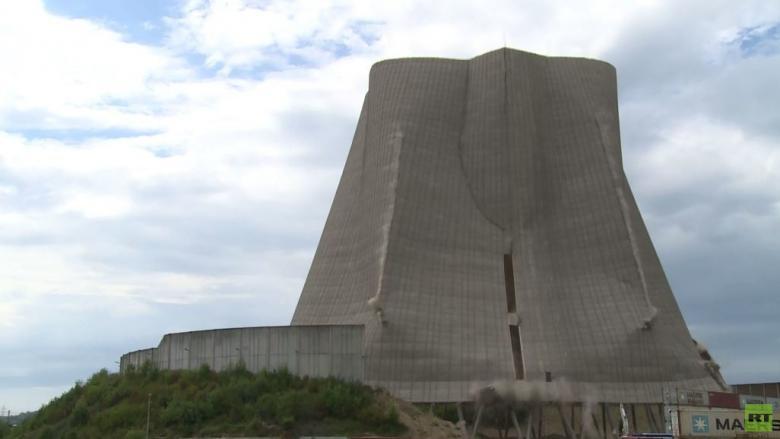 تفجير منشأة في محطة طاقة نووية