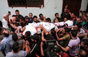 تشييع جثمان الشهيد المسعف عبد الله القططي