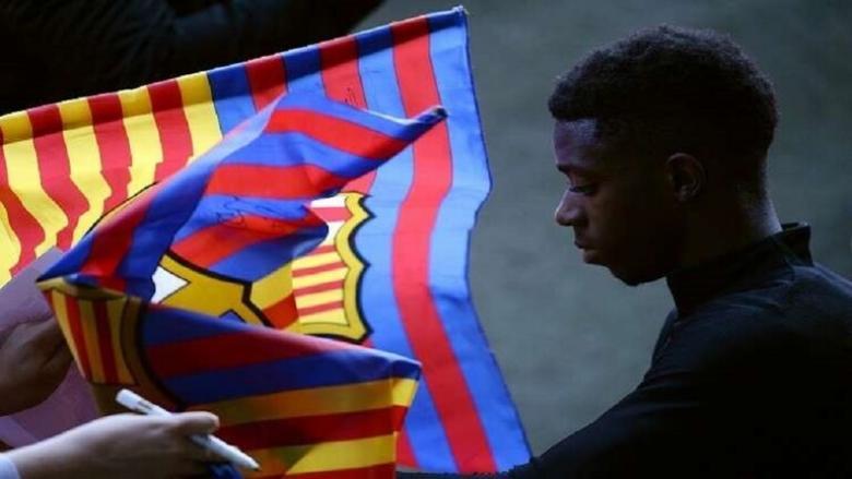 رسميا.. برشلونة يعلن مدة غياب ديمبلي عن الملاعب