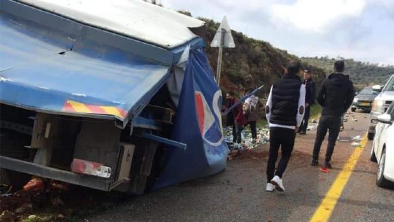 مصرع شاب إثر انقلاب شاحنة في نابلس