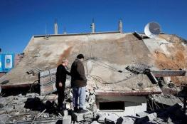 الاحتلال يهدم منزل عائلة أبو حميد في مخيم الأمعري برام الله