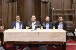 لقاء سياسي للدكتور خليل الحية بالبريج حول المصالحة