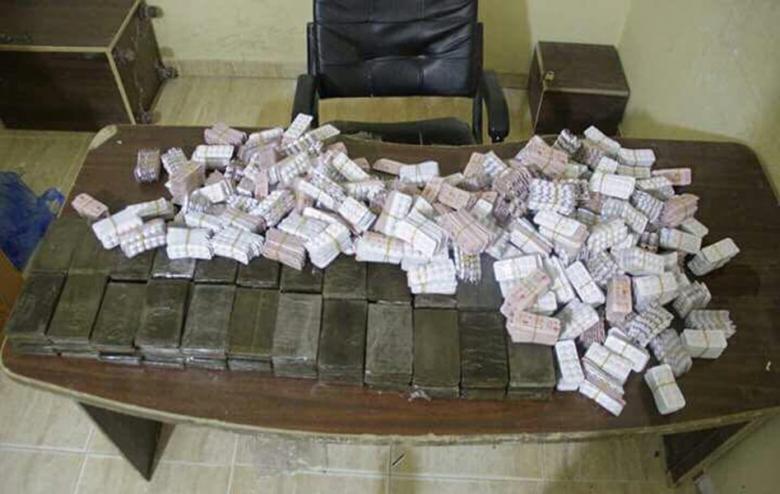 الشرطة العسكرية تضبط كمية من المواد المخدرة والحشيش برفح