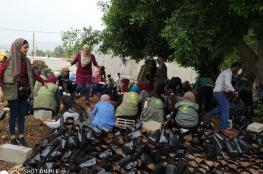 يوم تطوعي قرب جدار الفصل العنصري بفقوعة