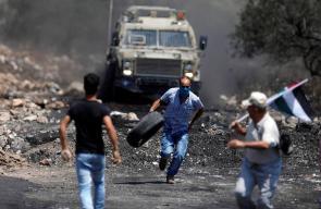 اندلاع مواجهات عنيفة بين شبان والاحتلال في كفر قدوم