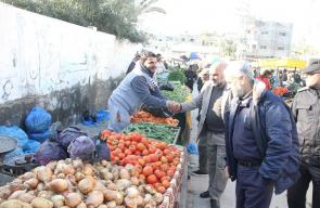 سوق الثلاثاء الشعبي بمدينة دير البلح