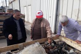 الرقابة بوزارة النقل تنفذ زيارة ميدانية لمعبر كرم أبو سالم