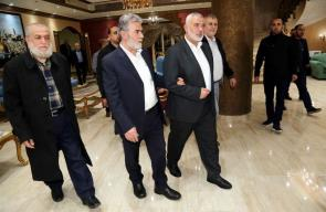 اجتماع قيادة حركة حماس والجهاد الإسلامي