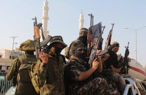 مسير عسكري مشترك للفصائل الفلسطينية نصرة للأقصى