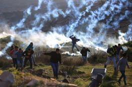إصابات بالاختناق خلال مواجهات مع الاحتلال شمال نابلس