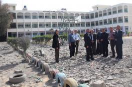 التعليم: تضرر 13 مدرسة نتيجة التصعيد الأخير على غزة