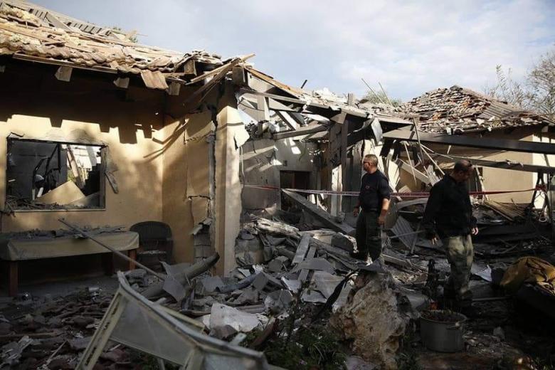 """مشاهد جديدة للمنزل الذي قُصف في """"تل أبيب"""""""