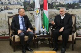هنية وملادينوف يبحثان جهود تنفيذ التفاهمات في غزة