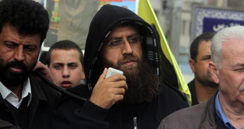 """الشيخ"""" خضر عدنان"""" يدخل يومه الـ""""18"""" للإضراب عن الطعام"""