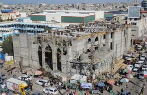 جولة ميدانية تفقدية لمسجد العودة برفح