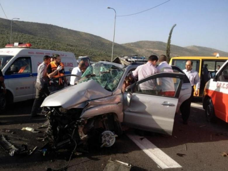 إصابة ثلاثة مواطنين بجروح مختلفة في حادث سير جنوب جنين