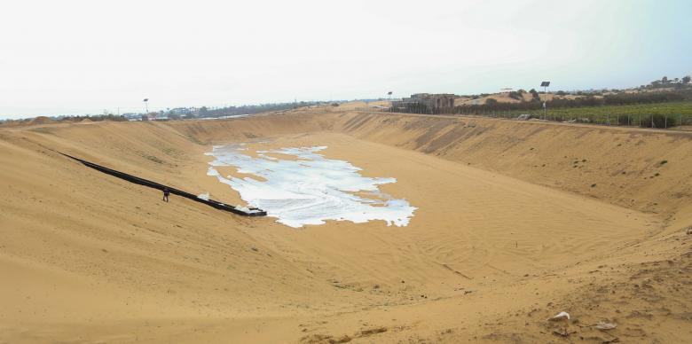 بلدية خانيونس تنتهي من إنشاء حوض إضافي للأمطار بتكلفة 285 ألف دولار