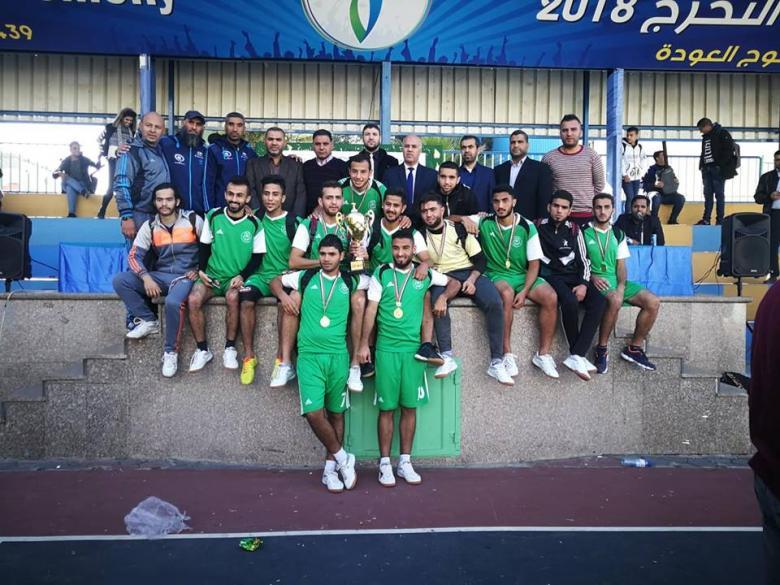 الجامعة الإسلامية تتوج ببطولة الجامعات لخماسيات كرة القدم