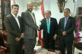 """وفد من حماس يزور سفارة """"إندونيسيا"""" بلبنان"""