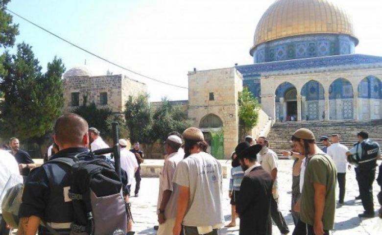 44 مستوطنا يقتحمون المسجد الأقصى