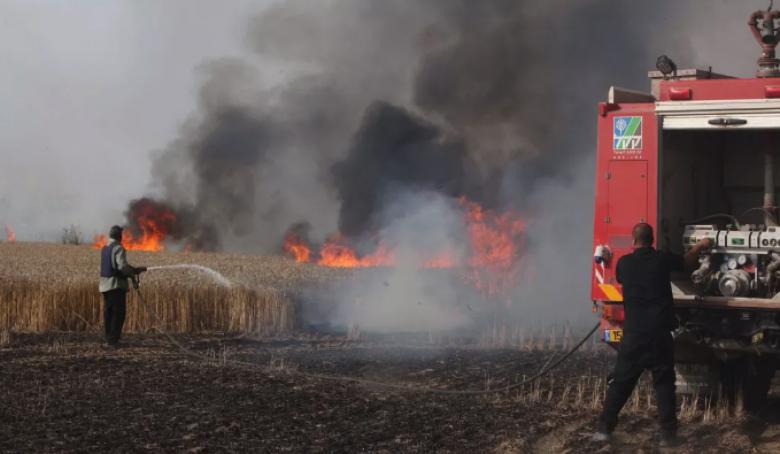 حرائق في غلاف غزة بفعل بالونات حارقة