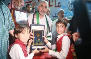 زيارة قادة حركة حماس للعائلات الفلسطينية