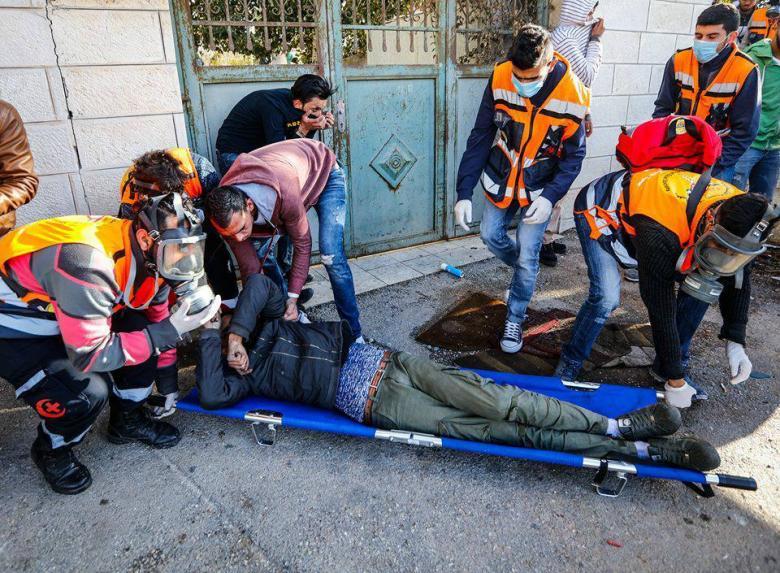 إصابة 108 فلسطيني في مواجهات مع قوات الاحتلال