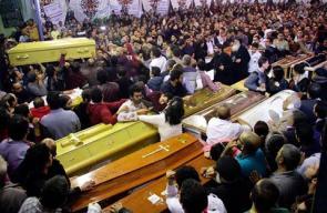 جنازة ضحايا تفجيرات مصر