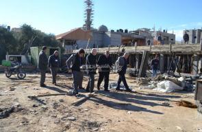 وكيل الحكم المحلي يتفقد مشاريع بلدية النصيرات