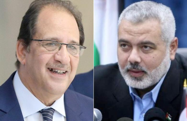 تفاصيل اجتماع هنية برئيس المخابرات المصرية