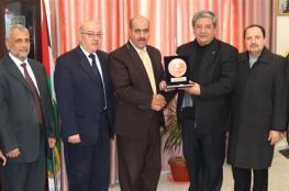 جامعة الأقصى تستقبل وفداً من المستشفى الميداني الأردني