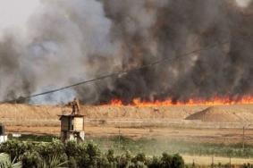 تواصل الحرائق في غلاف غزة  بفعل الطائرات الورقية