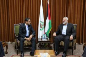 هنية يستقبل وفدًا أمنيًا مصريًا بغزة