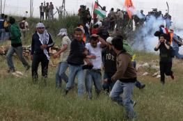 8 إصابات بالرصاص والعشرات بالاختناق بقمع مسيرة شرق رام الله