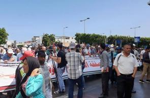 الآلاف يحتشدون في الرباط رفضًا لورشة البحرين وصفقة القرن