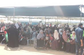 الحشود المشاركة بفعاليات إحياء النكبة شرق غزة