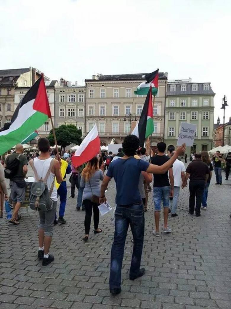 وقفة في العاصمة البولندية احتجاجا على قرار ترامب